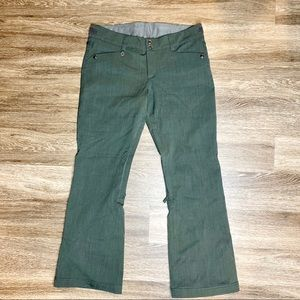W's Roxy Snowboarding Pants Slim Fit Dark Green XL